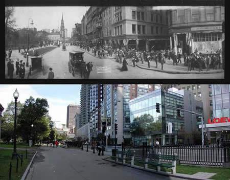 شاهدي كيف ظهرت هذه الاماكن قبل مائة سنة