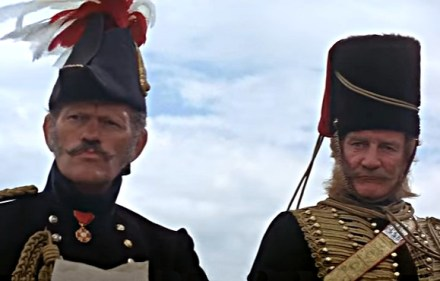 Harry Andrews and Trevor Howard in The Charge of the Light Brigade