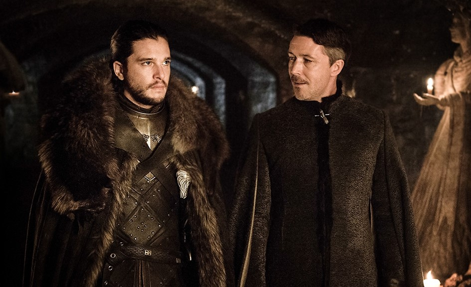 Jon Snow is accosted by Petyr Baelish