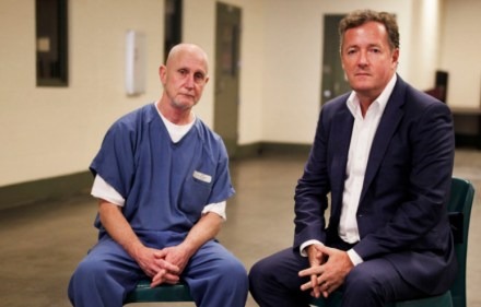 Mark Riebe with Piers Morgan