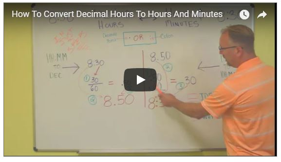 How To Convert Decimal Hours To Hours And Minutes     OnTheClock Time     Spoiler