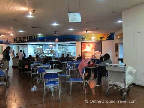 Cafe in NBO arrivals hall
