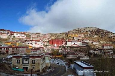 Trip to Tibet - Ganden Monastery Landscape