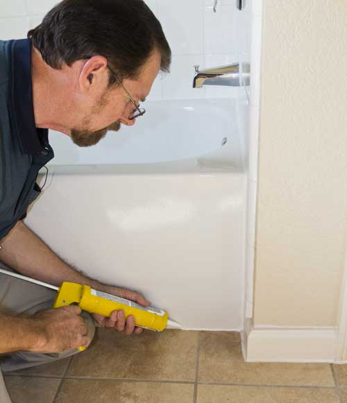 Caulking A Shower Or Tub On The House