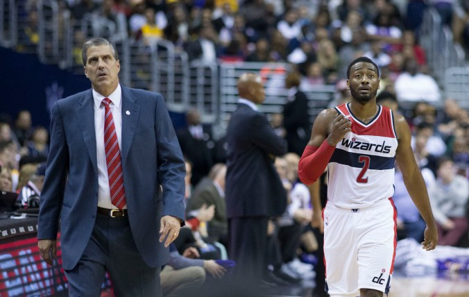 Randy Wittman and John Wall are hoping that the struggling Wizards can turn it around (Keith Allison/Flickr)