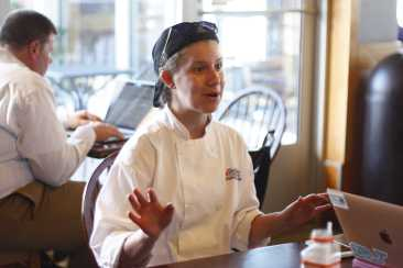 "Mix It Up Emie Dunagan (18) has made use of the tools at Chef Space to create pastries for her bakery. She's able to make her dream of creating ""pastry art"" a reality. ""What better way to make someone smile than to create a beautiful piece of art that they can not only appreciate visually, but tastefully as well,"" Dunagan said."
