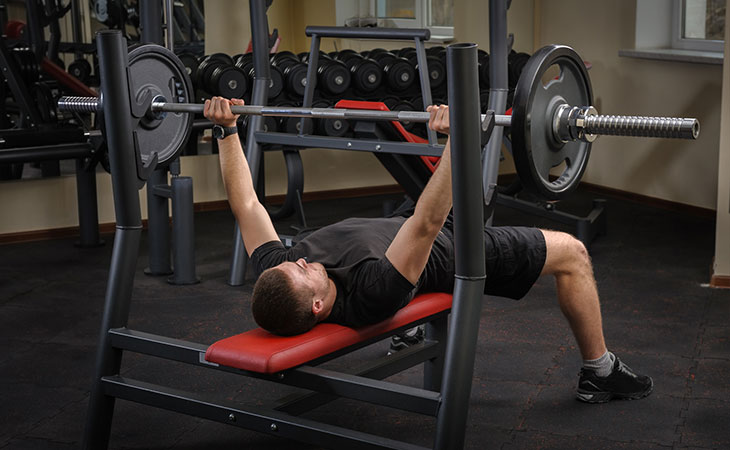 Man Working Out Bench Press