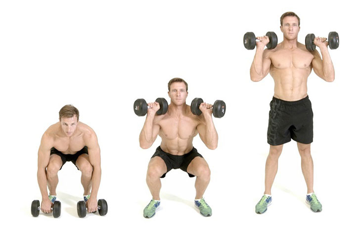How To Exercise Dumbbell Clean and Press
