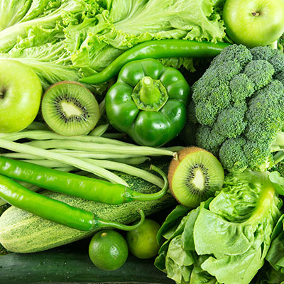 Nutritional Value of Green Fruits and Vegetables