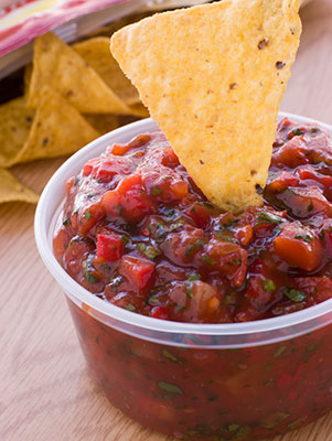 Healthy Eating Salsa and Chips