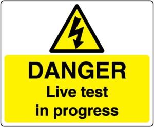 Warn184-Danger-Live-test