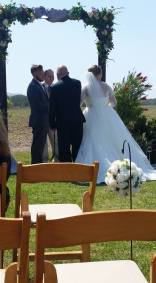 Thanking The Father As He Gives Away Bride