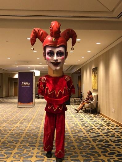 big head performer at nola event