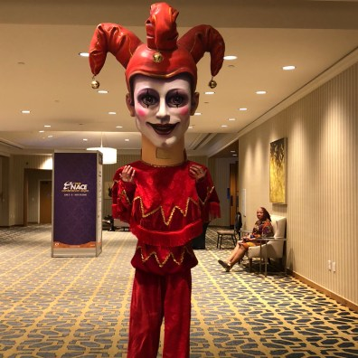 big head performer at nola event