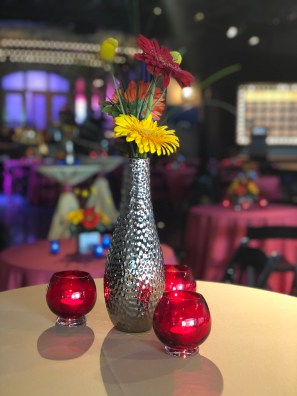 vibrant centerpiece at corporate event