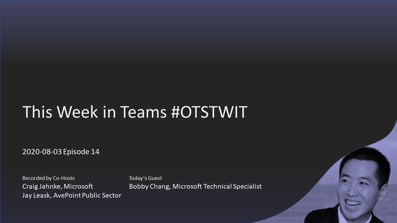 #OTSTWIT Episode 14 with Bobby Chang