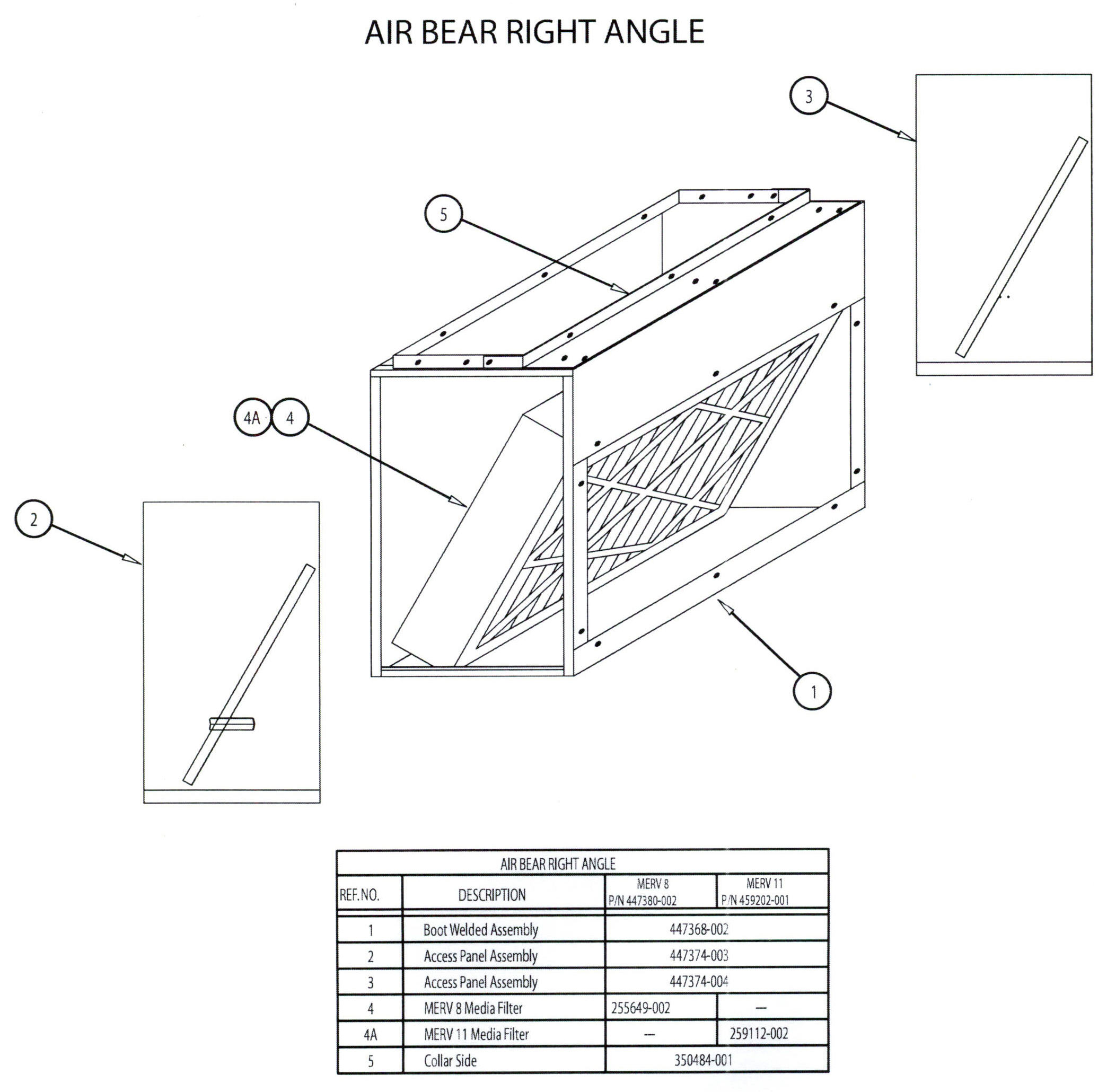 Trion Air Bear Right Angle Filters