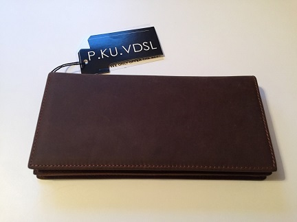 Long, leather wallet review