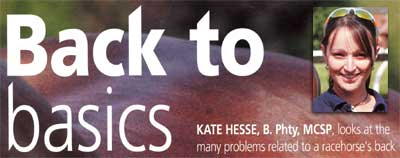Kate Hesse, equine physiotherapist Pacemaker magazine article