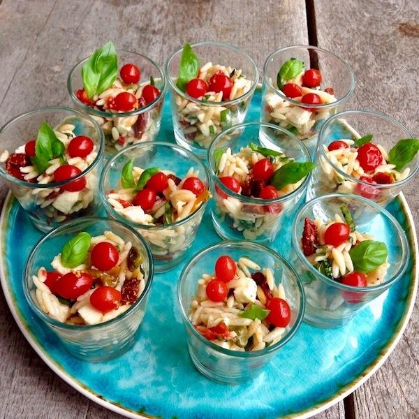 Italiaanse orzo-salade
