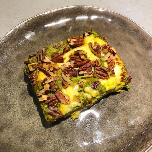 Pompoenlasagne met erwtjes, spinazie en gorgonzolasaus