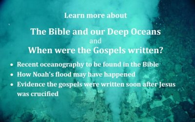 Upcoming event: The Bible and our Deep Oceans