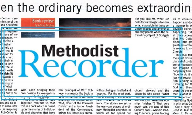 Methodist Recorder is 'enthralled and inspired' by Rob Cotton's book