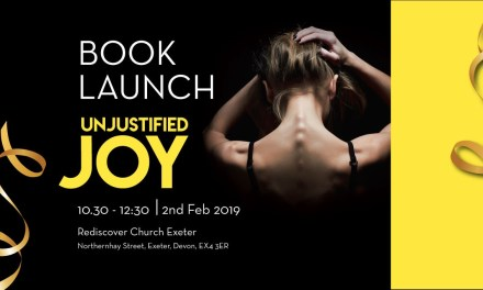 Book Launch for Unjustified Joy to be held in Exeter