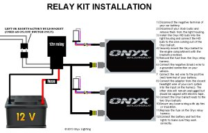 Relay HID Conversion Kit Installation Guide  Single Filament With Relay | Onyx Performance Lights