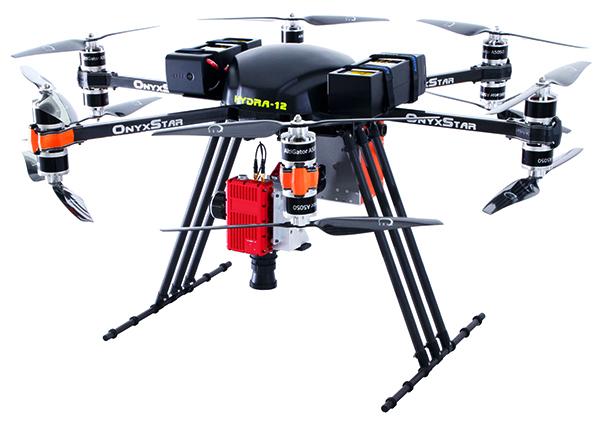 onyxstar drone uav uas hydra 12 heavy lifter gros porteur hyperspectral camera multirotor - HYDRA-12