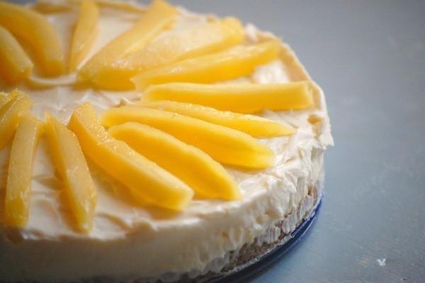 Witte Chocolade Cheesecake met Mango