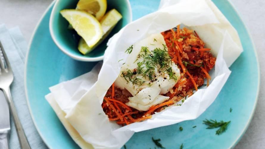 Vis-groente-couscouspakketje