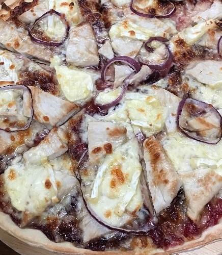 Cranberry turkey pizza