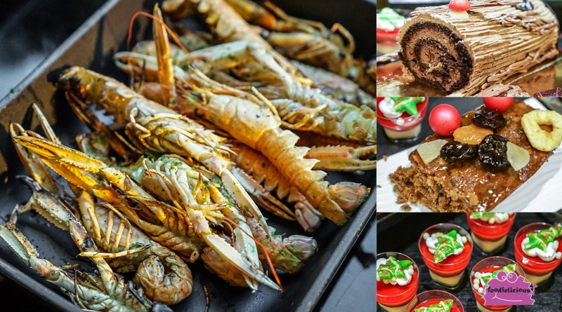 Le Méridien Singapore Beach Themed Christmas Buffet with DIY Donuts, Grilled Meats & Festive Log Cakes