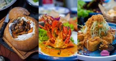 House of Seafood (Clarke Quay) – Spicy Lala in a Bun, Crab Pizza & Famous White Bee Hoon found here