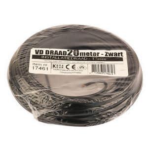 VD-DRAAD 1,5 MM� ZWART  -  20 METE RZWART