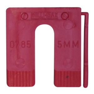 Uitvulplaatje 5mm (20) kunststof Qlinq