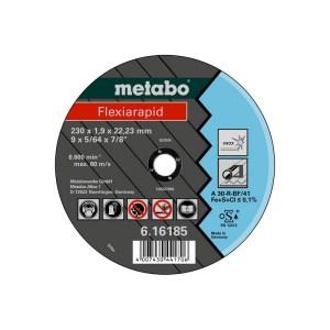 Metabo doorslijpschijf 125x1,6x22,2mm RVS Flexiarapid