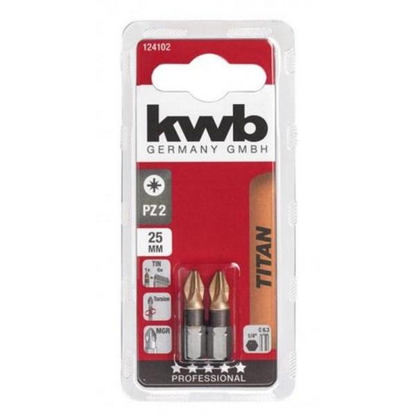 KWB titaan bits pz 2 25 mm 2 stuks
