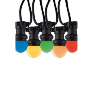 """CALEX LEDPARTYVERLICHTING240V E2710-LAMPS(KOGEL)""""KLEUR"""" OP SNOER 10"""