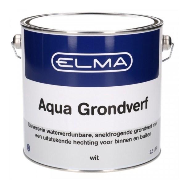 Elma Aqua grondverf wit 2500 ml