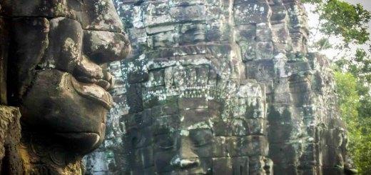 Faces bayon Angkor Wat Cambodia