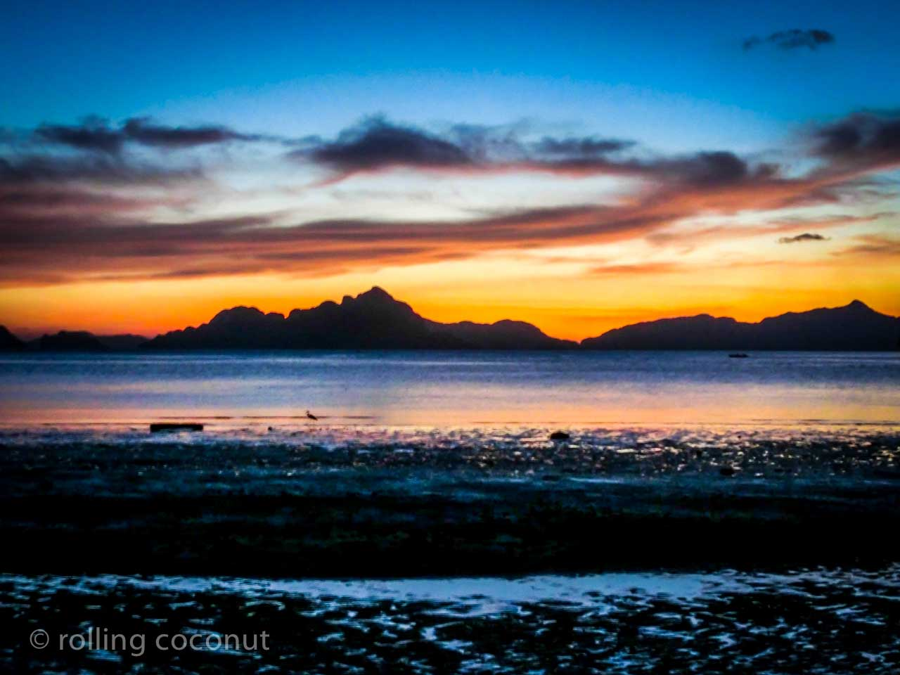 sunset el nido philippines
