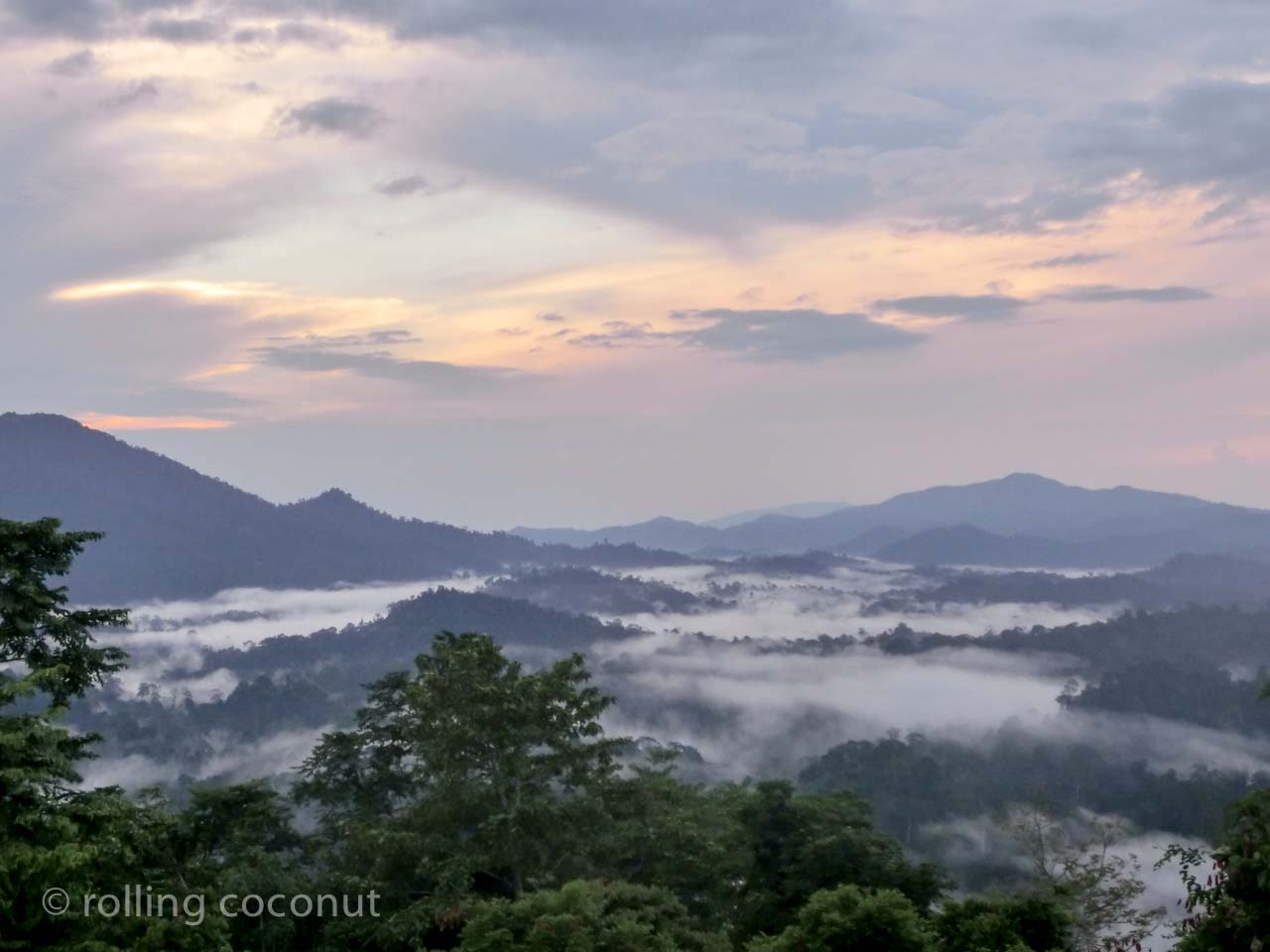 sunrise danum valley sabah malaysia borneo