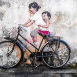 bicycle girls street art georgetown malaysia