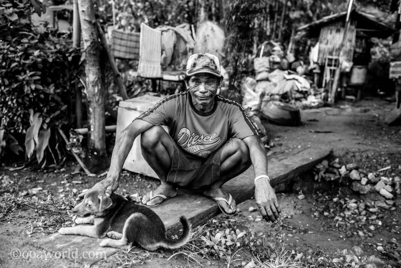 Portrait Squatting Man El Nido Philippines