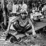 Portrait Squatting Man El Nido Philippines