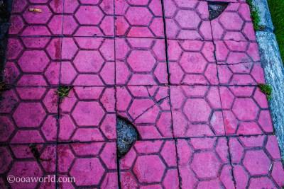 Pink Sidewalks Ubud Bali Indonesia photo Ooaworld