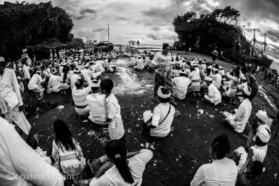 Tanah Lot Temple Prayer Bali photo OOAWORLD
