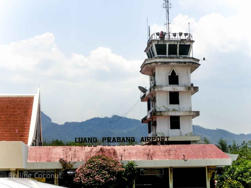 Luang Prabang Airport Laos Rolling Coconut Ooaworld Photo Ooaworld